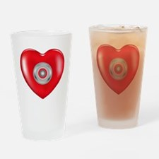 Safety Hearts Red Drinking Glass