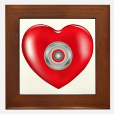 Safety Hearts Red Framed Tile