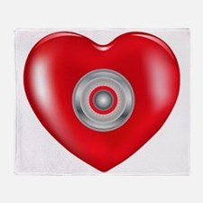 Safety Hearts Red Throw Blanket