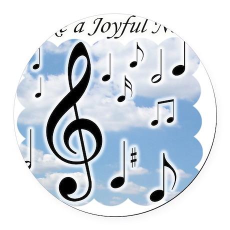 Make a joyful noise Round Car Magnet