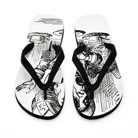 Alice_MAD HATTER Flip Flops