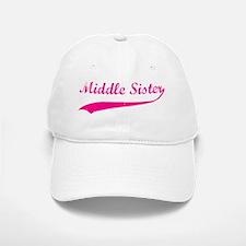 middlesister_pink Baseball Baseball Cap