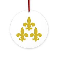Cadien Tri Fleur Round Ornament