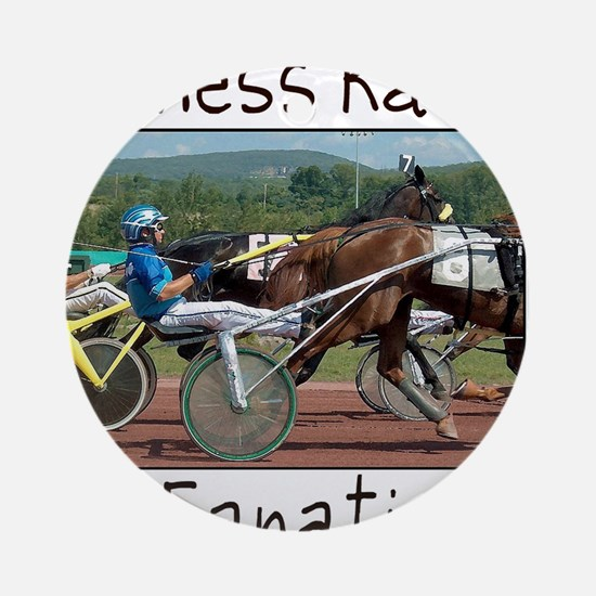Harness Racing Fanatic Round Ornament