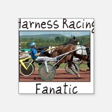 "Harness Racing Fanatic Square Sticker 3"" x 3"""