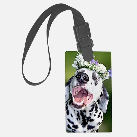 Smiling Dalmatian Dog Luggage Tag
