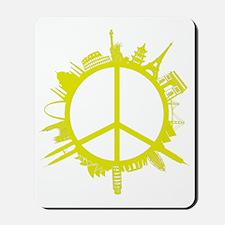 world peace_yellow Mousepad