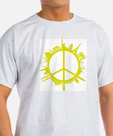 world peace_yellow T-Shirt