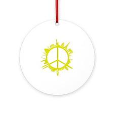 world peace_yellow Round Ornament