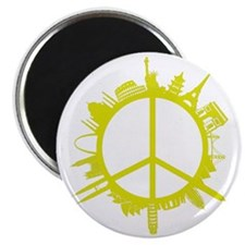 world peace_yellow Magnet
