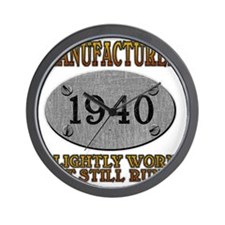 1940 Wall Clock