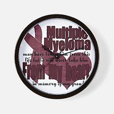multiple myeloma grandpa Wall Clock