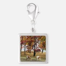 Fall Backdrop Silver Square Charm