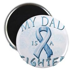 My Dad is a Fighter Light Blue Magnet