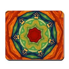 Orange/Green Mandala Mousepad