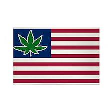 US Pot Flag Rectangle Magnet