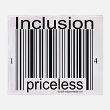2-inclusion-priceless Throw Blanket