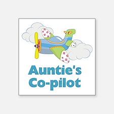"aunties copilot Square Sticker 3"" x 3"""