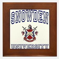 SNOWDEN University Framed Tile