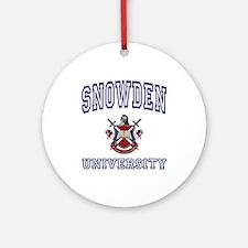 SNOWDEN University Ornament (Round)