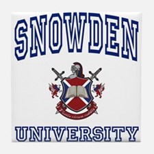 SNOWDEN University Tile Coaster