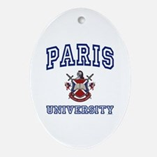 PARIS University Oval Ornament