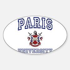 PARIS University Oval Decal