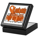 Leukemia daughter Square Keepsake Boxes