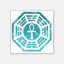 "Dharma Ankh Square Sticker 3"" x 3"""