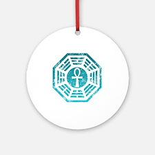 Dharma Ankh Round Ornament