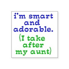 "smart-and-adorable Square Sticker 3"" x 3"""