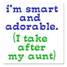"smart-and-adorable Square Car Magnet 3"" x 3"""