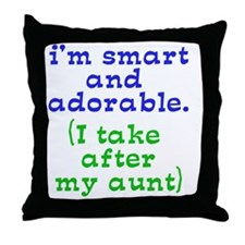 smart-and-adorable Throw Pillow
