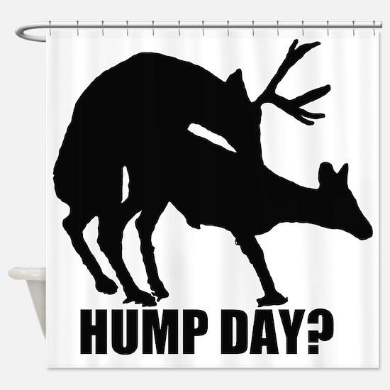 Mule deer hump day Shower Curtain