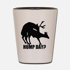 Mule deer hump day Shot Glass