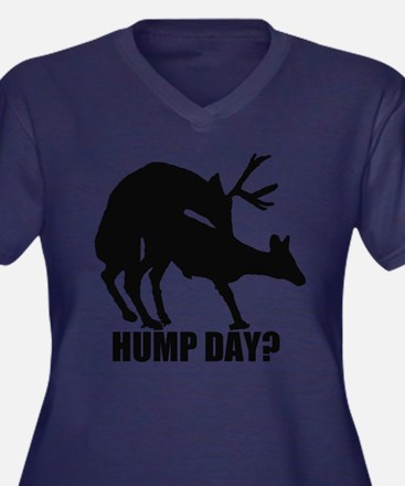 Mule deer hump day Women's Plus Size V-Neck Dark T