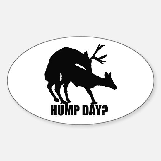 Mule deer hump day Sticker (Oval)