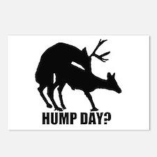 Mule deer hump day Postcards (Package of 8)