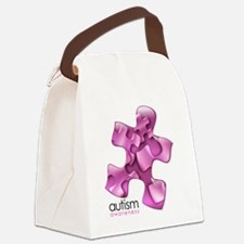 2-puzzle-v2-pink Canvas Lunch Bag