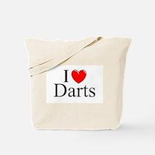 """I Love (Heart) Darts"" Tote Bag"