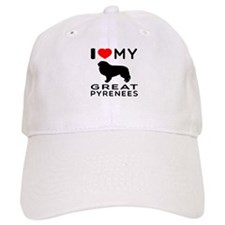 I Love My Great Pyrenees Baseball Cap