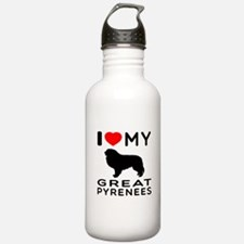 I Love My Great Pyrenees Water Bottle