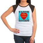 I Love YouTubing Video Lover Women's Cap Sleeve T-