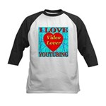 I Love YouTubing Video Lover Kids Baseball Jersey