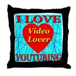 I Love YouTubing Video Lover Throw Pillow
