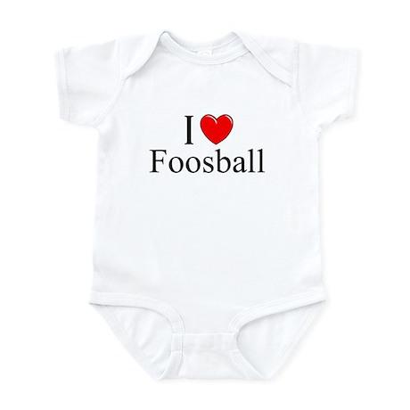 """""""I Love (Heart) Foosball"""" Infant Bodysuit"""