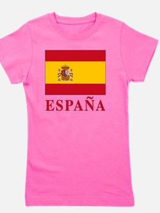 2-Flag_of_Spain3 Girl's Tee