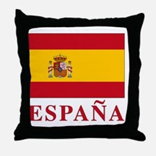 2-Flag_of_Spain3 Throw Pillow