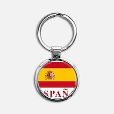 2-Flag_of_Spain3 Round Keychain