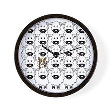 Corgi in the Sheep Wall Clock